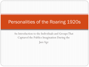 Personalities of the Roaring 1920s - pams