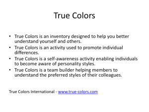 graphic regarding True Colors Personality Test Printable Version identify Correct Hues