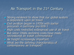 Airlines in the 21st Century Transport