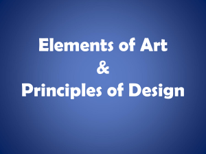 Elements of Art & Principles of Design