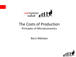 Total Cost - Principles of Microeconomics