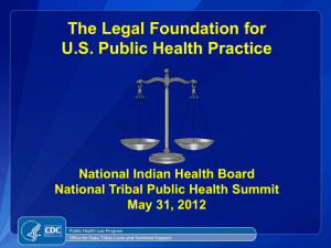 Legal Foundation for U.S. Public Health Practice: Ransom