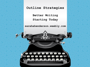 Pre-Writing Outline Strategies