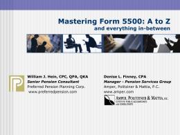 Form 5500 Reporting presentation
