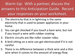 Electric Charge and Static Electricity