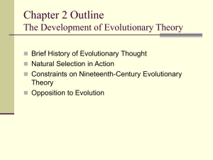 Chapter 2 the Development of Evolutionary Theory