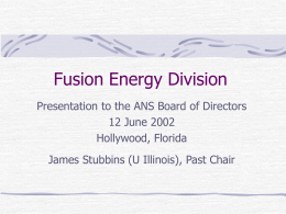 Fusion Energy Division