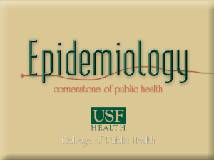 MPH in Epidemiology - USF Health
