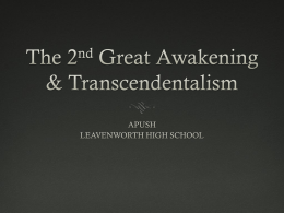 LECTURE 03_The 2nd Great Awakening