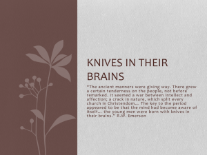 Knives in their Brains