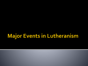 Major Events in the Reformation