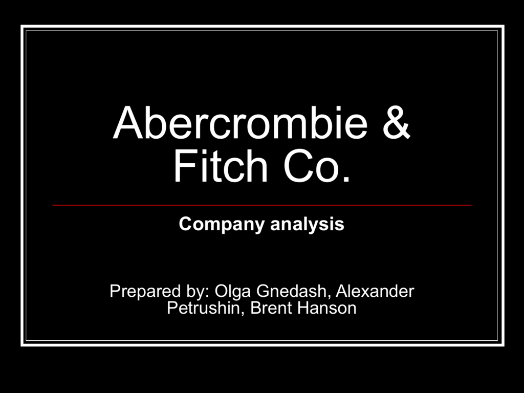 abercrombie and fitch hierarchy