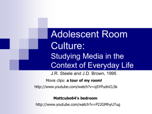 Adolescent Room Culture: Studying Media in the Context of