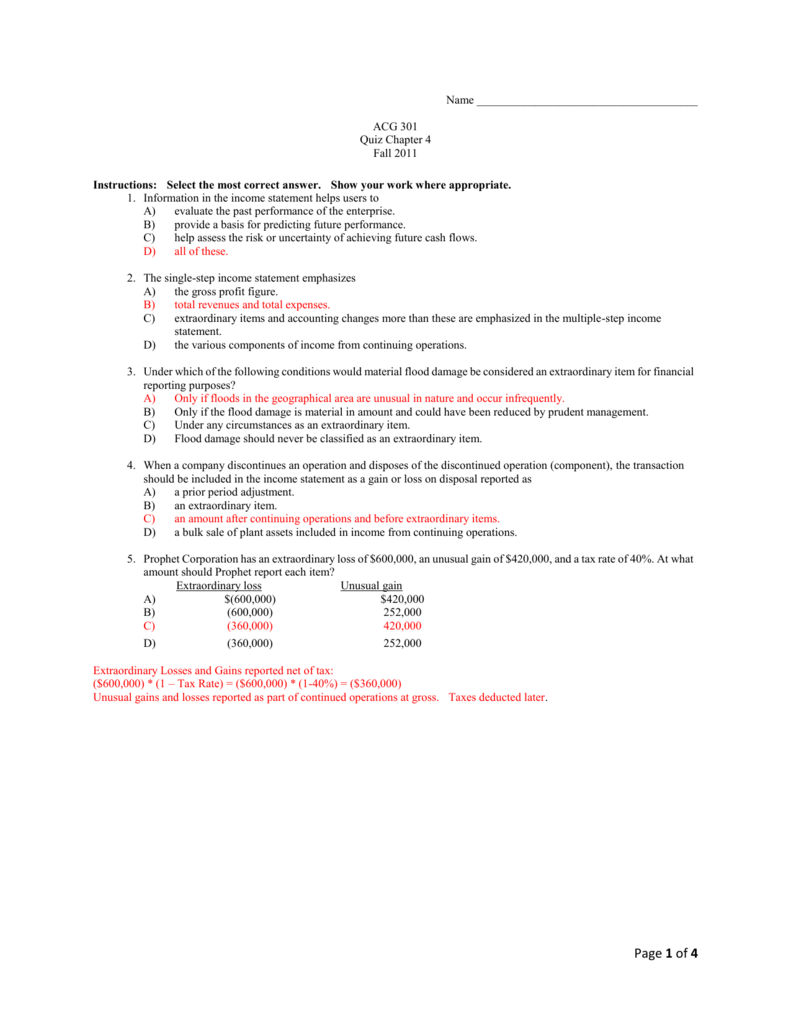 Answers Quiz Chapter 4