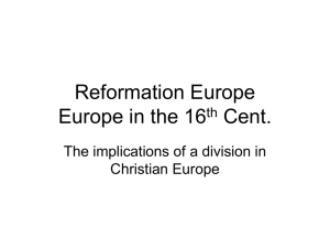ReformationEurope - University of Oregon