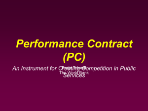 Performance Contracts for Improving Government