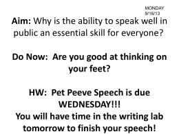 pet peeve essay examples