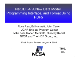 The Future of NetCDF - Unidata - University Corporation for
