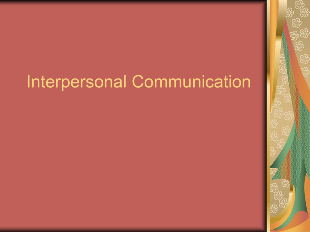miller and steinberg interpersonal communication
