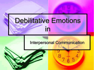 Debilitative Emotions and