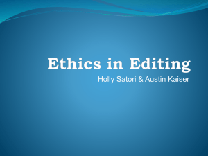 497 Ethics in Editing PP
