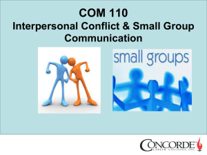 Class 7 - Interpersonal Conflict