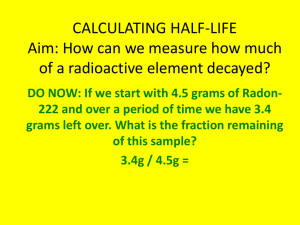 CALCULATING HALF-LIFE Aim: How can we