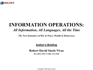 INFORMATION OPERATIONS BOOK BRIEF
