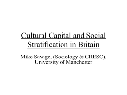 Cultural Capital and Social Exclusion