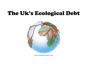 The Uk*s Ecological Debt