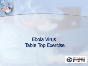 Ebola Table Top Drill 9-24-2014