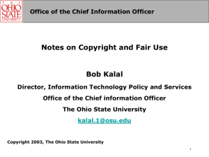 Copyright and Fair Use (Powerpoint)