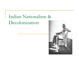 PowerPoint: Indian Nationalism