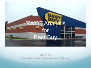 SWOT Analysis for Best Buy - Jordan McCormick's E