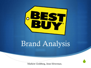 Best Buy Brand Analysis - J Silverman E Portfolio