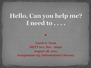 PowerPoint Research Project - Carol Cron's e