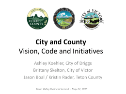 City and County Vision, Code and Initiatives