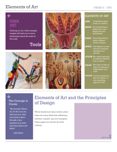 Elements of Art /Principles of Design