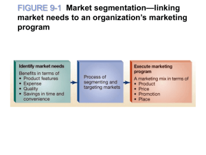 The five key steps in segmenting and targeting markets link market