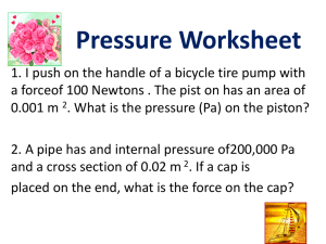 Pressure Worksheet