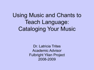 Using Music, Chants, and Poems to Teach Language