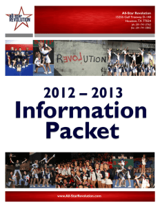 2012 – 2013 Information Packet