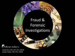 Fraud and Forensic Audit Investigations
