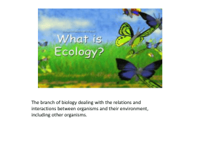 Ecology Vocabulary - Catawba County Schools
