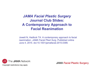 A Contemporary Approach to Facial Reanimation