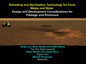 Reheating and Sterilization Technology for Food, Waste and Water