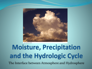 8. Moisture, Precipitation and the Hydrologic Cycle