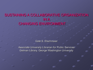 Sustaining a Collaborative Organization in a Changing Environment