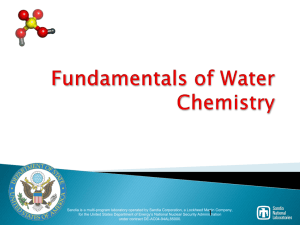 Fundamentals of Water Chemistry - CSP