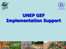 UNEP - English - Global Environment Facility